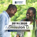 University of Ghana 2019/20 Admission List Out; Check It Here